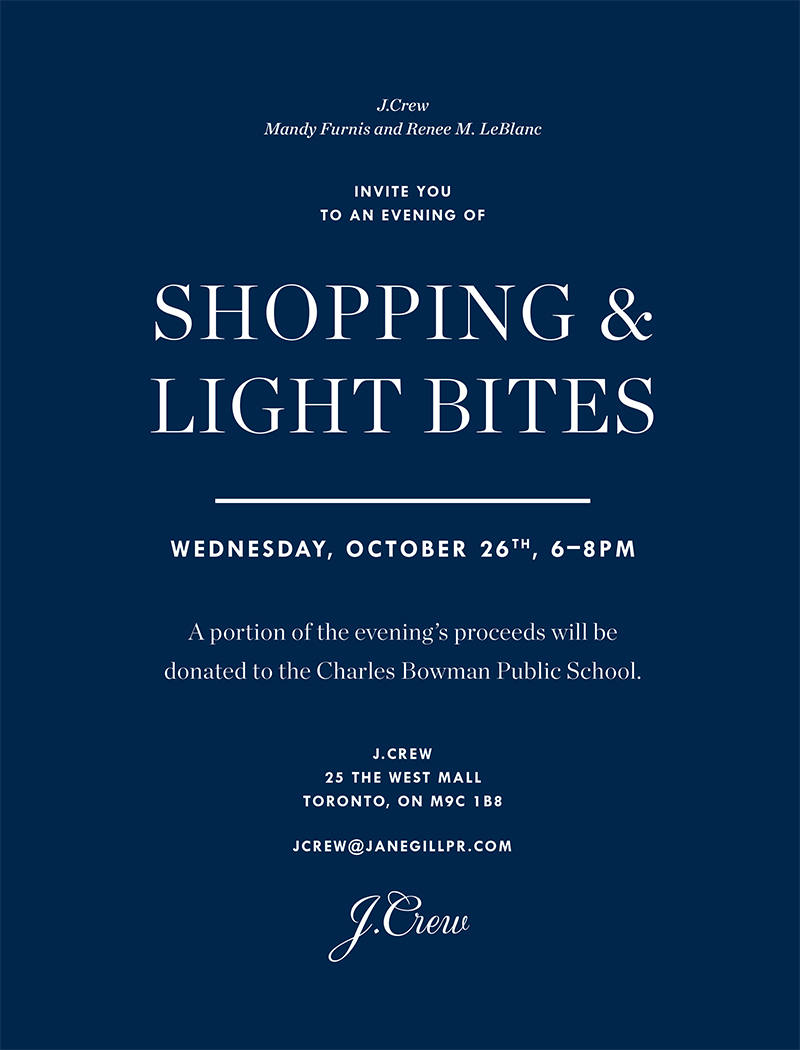 Fundraising Event With JCrew, Come Support A Great Cause!