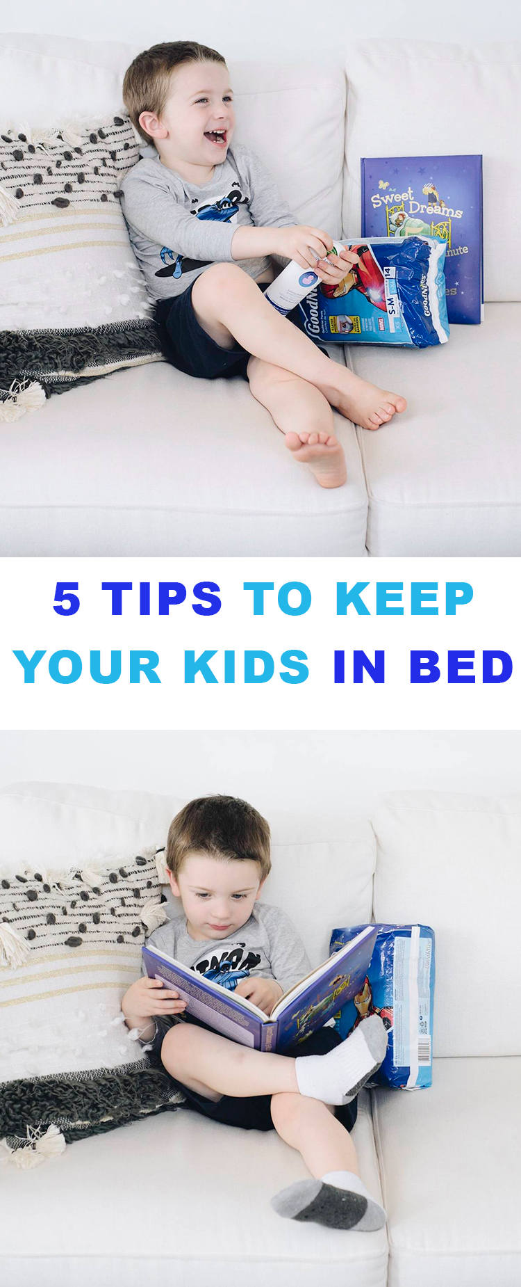 5 tips to get your kids to stay in bed at night that ACTUALLY work!