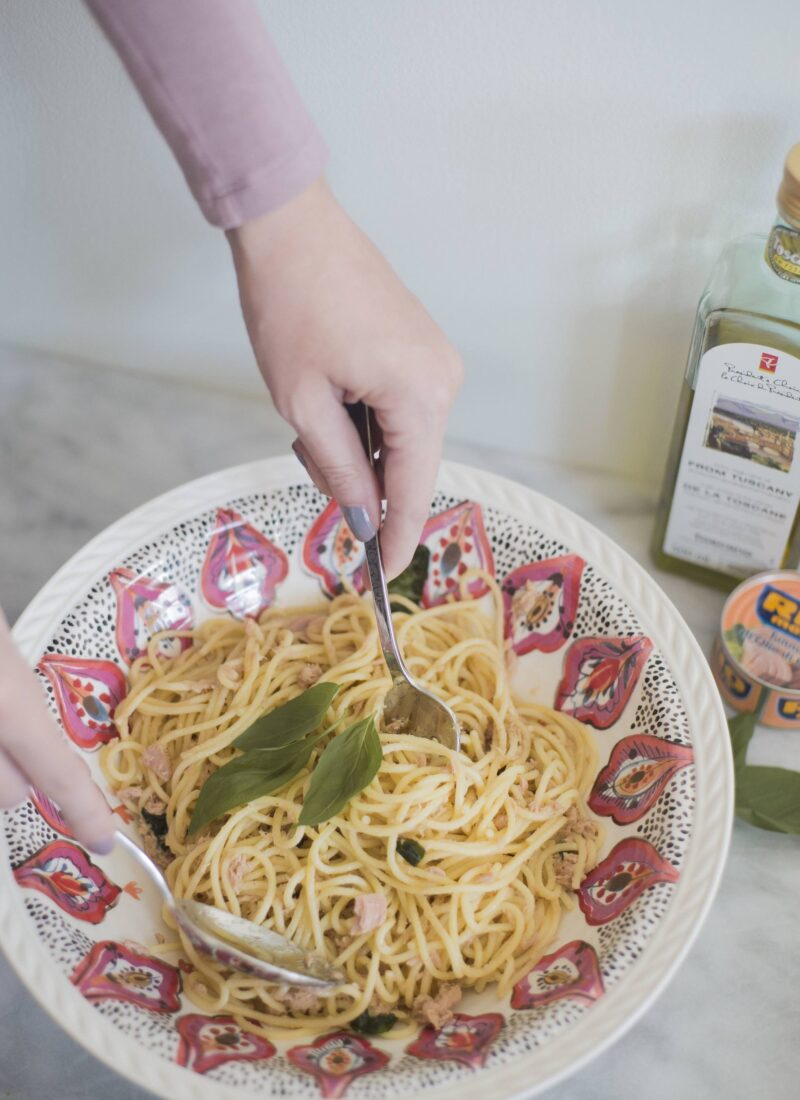 Spaghetti Lemon and Tuna Recipe #MoreAmore