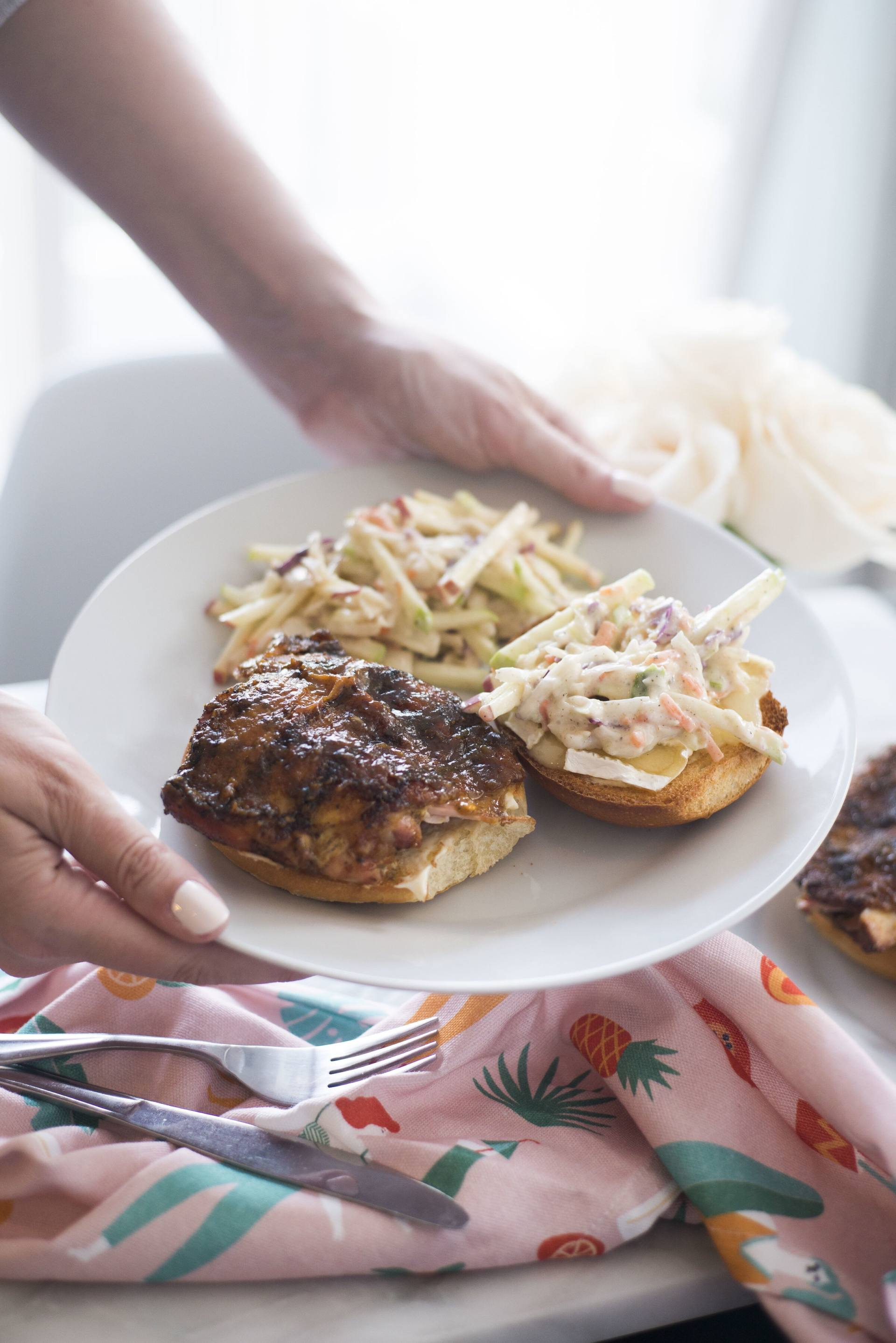 The Tastiest Turkey, Brie and Apple Slaw Burger Recipe