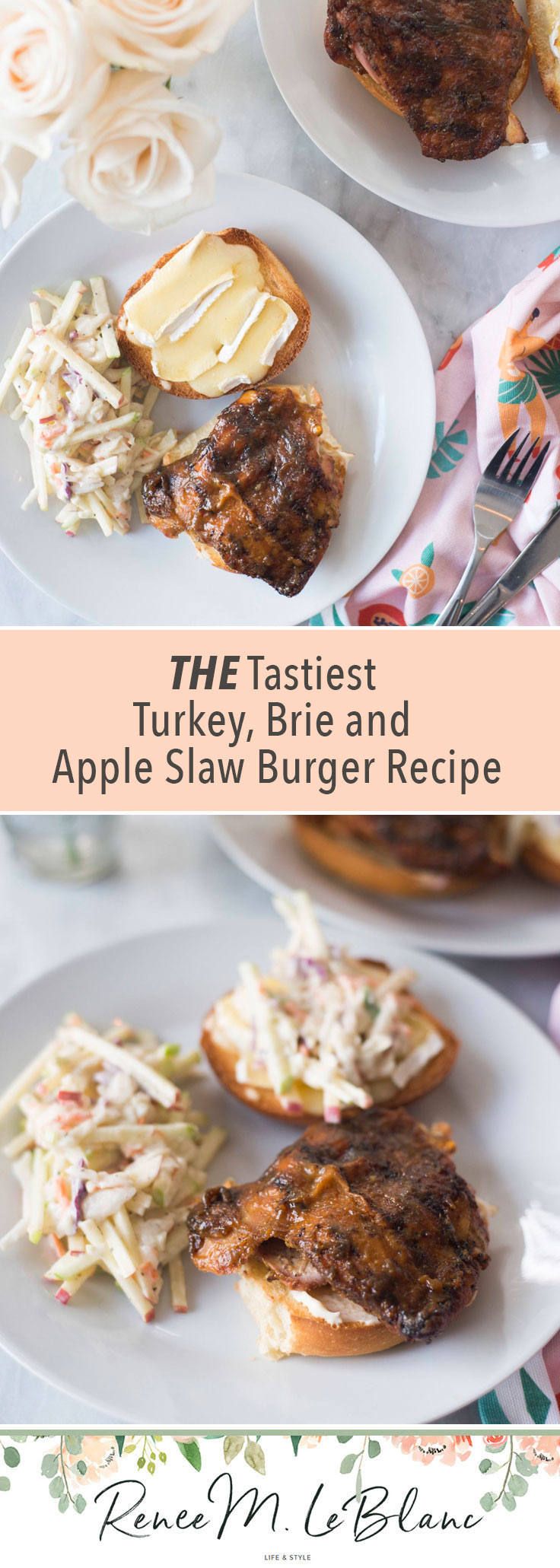 Super Tasty Turkey Sandwich with Brie and Apple Slaw